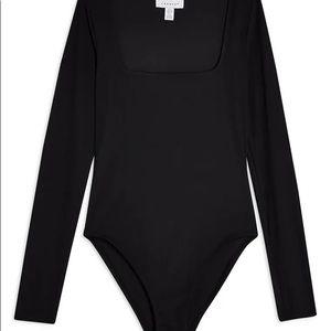 Topshop Black long sleeve Bodysuit